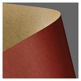 Картон дизайнерский двусторонний А4 Kraft - Czerwony, 275 г/м² (20 шт.)