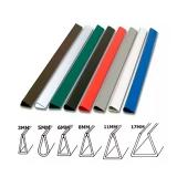 Планки для зажима бумаги 8 мм белые (100 шт.)