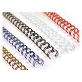Пружины металлические 9,5 мм белые (100 штук)